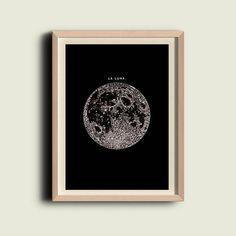Volle maan in de donkere afdrukken Poster door TheCuratorsPrints