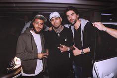 "missdasilvasantos: ""Rafinha with Chris Brown in Barcelona (26.02.16) """