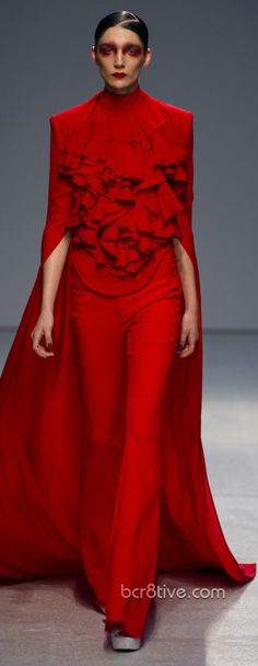 "Gareth Pugh Spring Summer 2013 Ready To Wear Collection ... ""RED ~ RED ~ RED"" ~ ""Ah YES!"" ~ ""IT IS PURE CLASS"" ..."