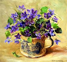 Anne Cotterill (1933-2010) Purple Violets