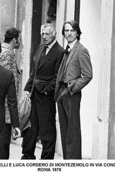 Gianni Agnelli & Luca Cordero di Montezemolo