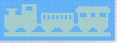 Made #191 Pattern: Train filet crochet baby blanket
