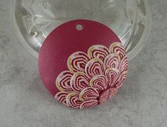 Womens Ceremony Think Pink  polymer clay pendant by craftsbychris, $12.00