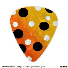 Dots On Blended OrangeToYellow Pearl Celluloid Guitar Pick