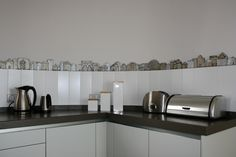 gvega - handmade tile - miniature houses, For more information call 952 81 68 48 (http://www.gvega.com/products/handmade-tile-miniature-houses.html)