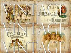 Christmas Lullaby Instant Download ATC by NostalgieGrafikland, $3.00