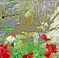 Labrador Retriever angel dog memory marker is a one of a kind custom design created by Garden Copper Art. This precious angel Labrador retriever