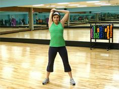 Standing triceps stretch
