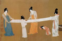 Women in Ancient China - Ancient History Encyclopedia Art Gallery, Silk Painting, Chinese History, History Of Textile, Chinese Culture, Painting, Chinese Painting, Art, Silk Road