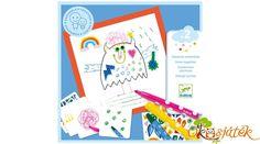 A készlet segítségével kedvet csinálhatunk a gyermekeknek a rajzoláshoz. A matricák segítségével még egyedibb képeket készíthetnek a kisgyermekek. A kiváló minőségű és gyönyörű színű filctollakkal és a zsírkrétákkal vidám, színekkel teli rajzokat készíthetnek a gyermekek. Nincs más dolguk, mint szabadjára engedni a fantáziájukat és használni a pici kezeiket. A 30 darab kis lapka ötleteket ad nekik és feladatokat. Little Monsters, Draw, Games, To Draw, Sketches, Gaming, Painting, Tekenen, Plays