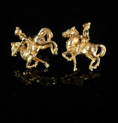 Cufflinks Medieval KNIGHT HORSE Vintage Cuff by NeatstuffAntiques