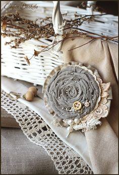 I'd make the grey part a little smaller and add more crochet pieces and lace around it. Nice idea.