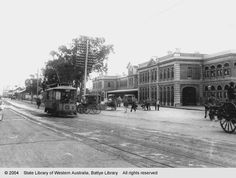 Wellington Street and Perth Railway Station, looking north west, 1905