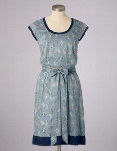 I've spotted this @BodenClothing Drapey Day Dress Eucalyptus Annali