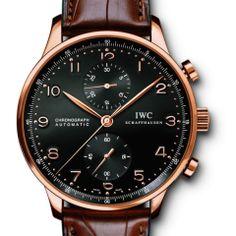IWC Rose Gold Portuguese Chronograph Wristwatch