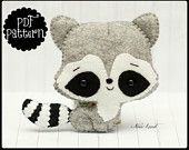 Cute raccoon (PDF Pattern)