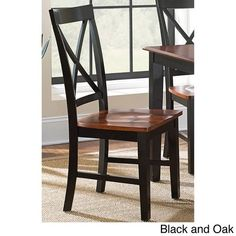 Greyson Living Keaton Solid Wood Dining Chair (Set of 2) Black and Oak