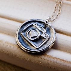 Photography Lovers Necklace  Fine Silver by meredithfenwick, $40.00