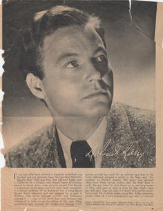 A newspaper article from 1947 detailing DeForest Kelley's military career and transition into feature film.