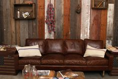 I like the rustic-vintage vibe.  Photo Credit Junk Food Clothing.  Via Home | California Home + Design