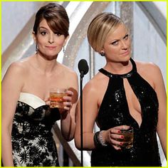 Great news Amy Poehler & Tina Fey fans: the duo will host the Golden Globes Awards for the next TWO YEARS!!! Golden Globe Award, Golden Globes, Famous Celebrities, Celebs, Short People, Amy Poehler, Tina Fey, Fun Quizzes, Hair Hacks