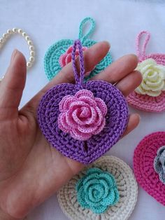New flowers 🌹 I really like crochet roses with hanging branches so I made a new pattern.Crochet design Patterns by HappyCrochetByVitaSweet Heart Crochet Patterns for Valentine's Day or Any Day! Overview of Crochet So You Can Comprehend Patterns - Free Heart Crochet Pattern, Crochet Flower Patterns, Crochet Flowers, Free Pattern, Crochet Keychain, Crochet Earrings, Crochet Crafts, Crochet Projects, Crochet Owls