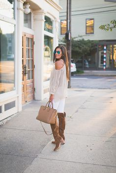 Cold Shoulder Sweater   A Southern Drawl