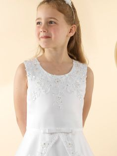 LWCD39 Communion Dress Holy Communion Dresses, Bodice, Neckline, Little White, Tulle, Satin, Lace, Skirts, Collection