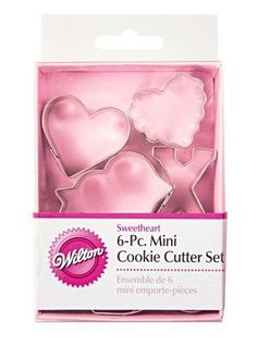 Wilton Valentines MINI CUTTER SET 6 pieces pc baking cookie heart X O arrow * Details can be found by clicking on the image.