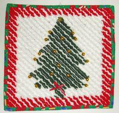 Guardate lo splendido albero in ciniglia di Donata Gervasi: imparate a farlo! #gratis #conlemani