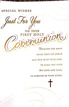 special wishes just for you on your first holy communion https