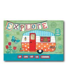 Another great find on #zulily! 'Explore' Gallery-Wrapped Canvas #zulilyfinds
