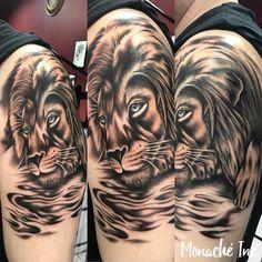 Uwielbiam tak tworzyć 😊  Tattoo by Monia 💪  #MonachéInk #MonikaGrala #studiotatuażu #tattoostudio #tattooart #liontattoo