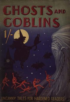 witch halloween vintage cover ghosts and goblins