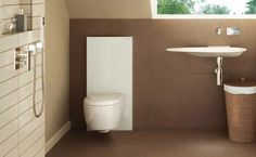 Geberit monolith in white for wall hung toilets