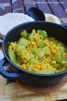 Gormandize: Chayote con Maiz (Costa Rican Chokos and Corn)