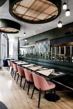 Restaurant Interior Restaurant Bar Bar Design Re Decoration Restaurant, Design Bar Restaurant, Deco Restaurant, Luxury Restaurant, Seafood Restaurant, Hotel Decor, Pub Decor, Restaurant Lighting, Room Decor