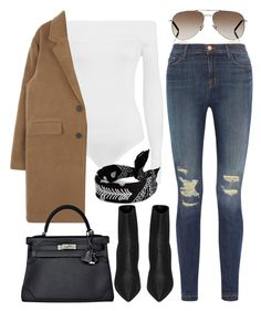 Untitled #3564 by dkfashion-658 on Polyvore featuring J Brand, WearAll, Yves Saint Laurent and Hermès