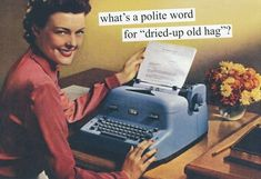 "Anne Taintor: What's a polite word for ""dried-up old hag""?"