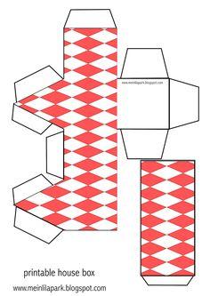 Free printable house box - ausdruckbare Geschenkbox - freebie | MeinLilaPark – DIY printables and downloads