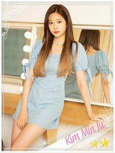 Cute Korean Girl, Beautiful Asian Girls, First Photo, Kpop Girls, Yuri, Photoshoot, Shirt Dress, Beauty, Dresses