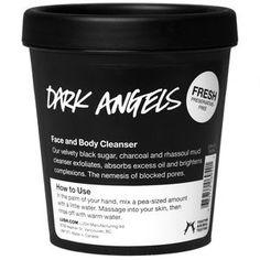 Dark Angels charcoal facial cleanser. It's Vegan, too!