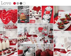 wedding candy bar red and black