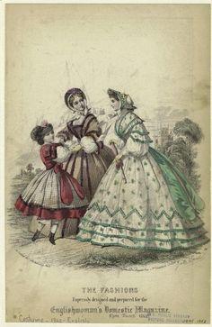 Fashion plate, Jun 1862 England, the Englishwoman's Domestic Magazine
