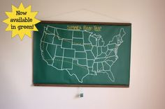 Chalkboard United States Map LARGE SIZE // USA // by dirtsastudio