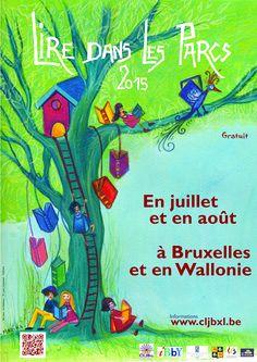 """Escapages: """"Lire dans les parcs"""" le jardin de la ferme du Douaire avec la Bibliothèque publique d'Ottignies"""