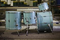 C custom drum kit- awesome color!