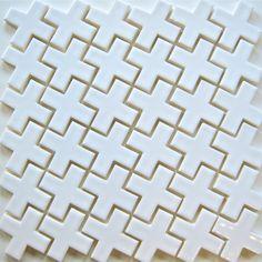 Mosaic tile Plus Mosaic white ceramic tile for kitchen backsplash and bathroom tile