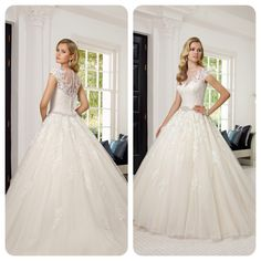 Stunning gown with illusion neckline!