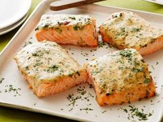 Low Carb Mustard-Maple Roasted Salmon